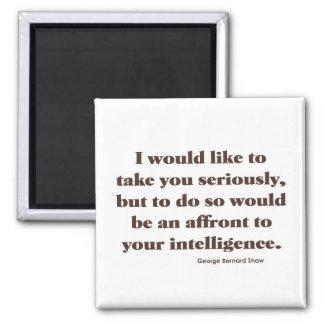 Shaw en inteligencia imán cuadrado