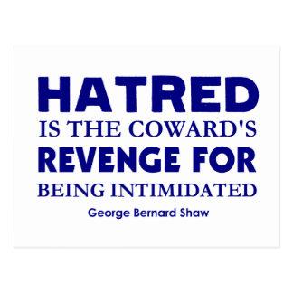 Shaw en odio tarjetas postales