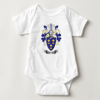 Shaw Family Crest Coat of Arms Baby Bodysuit