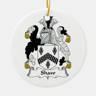 Shaw Family Crest Christmas Tree Ornament