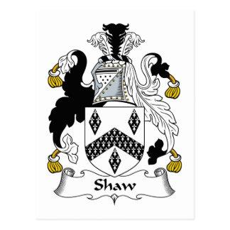 Shaw Family Crest Postcard