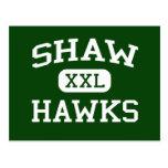 Shaw - Hawks - Shaw High School - Shaw Mississippi Postcard