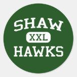 Shaw - Hawks - Shaw High School - Shaw Mississippi Round Sticker