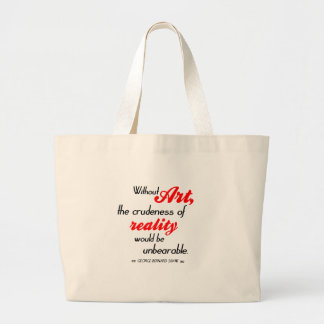 Shaw on Art Large Tote Bag