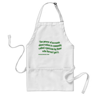 Shaw on Cynicism Adult Apron