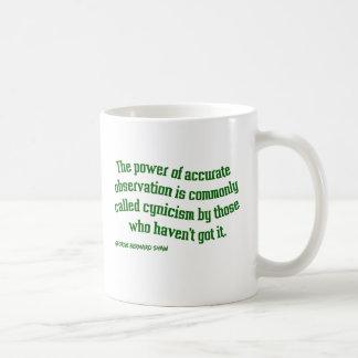 Shaw on Cynicism Classic White Coffee Mug