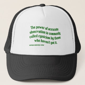 Shaw on Cynicism Trucker Hat
