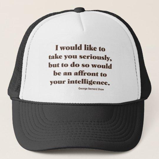 Shaw on Intelligence Trucker Hat