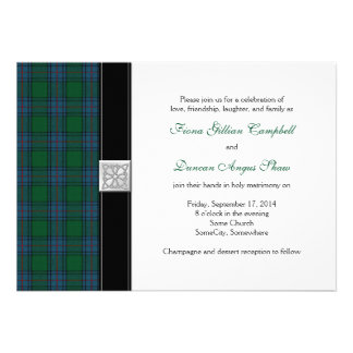 Shaw Tartan Celtic Wedding Invitation
