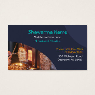 Shawarma Middle Eastern Business Card
