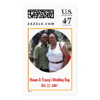 Shawn & Tracey's Wedding DayOct. 27, 2007 Postage Stamp