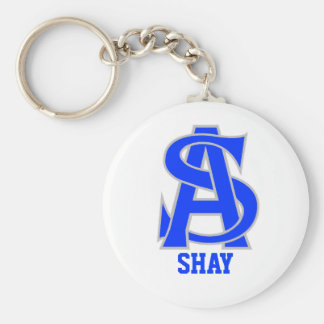 Shay Basic Round Button Keychain