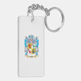 Shay Coat of Arms - Family Crest Double-Sided Rectangular Acrylic Keychain