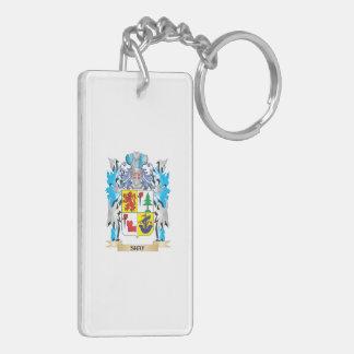 Shay Coat of Arms - Family Crest Double-Sided Rectangular Acrylic Keychain