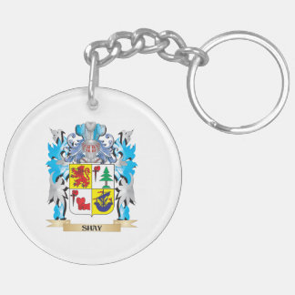 Shay Coat of Arms - Family Crest Double-Sided Round Acrylic Keychain