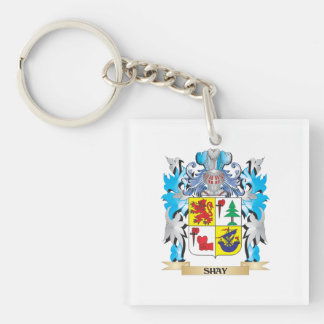 Shay Coat of Arms - Family Crest Single-Sided Square Acrylic Keychain