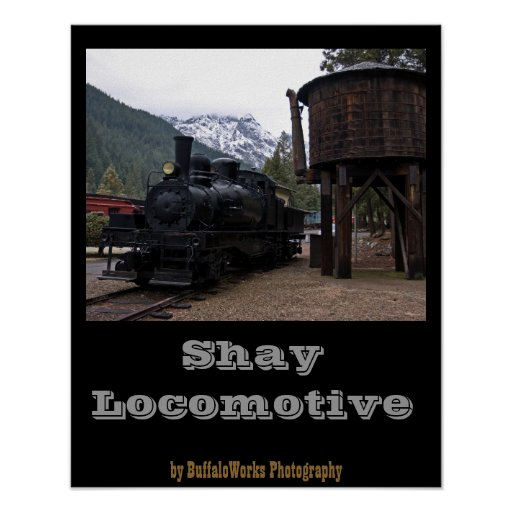 Shay Locomotive and Tower Print