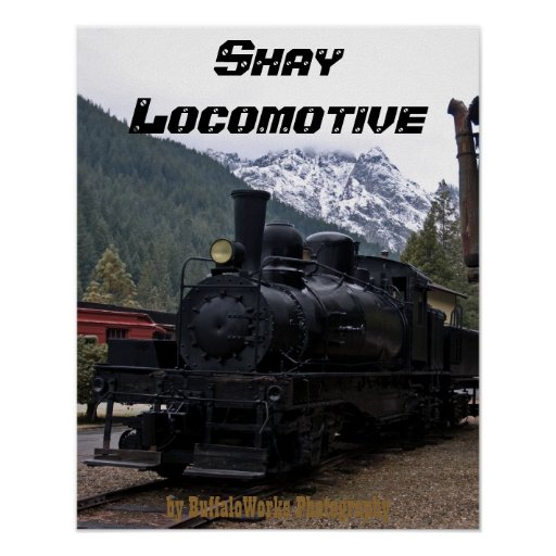 Shay Locomotive and Tower Posters