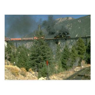 Shay locomotive No. 14 crosses the trestle at Geor Postcard