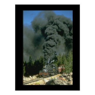 Shay No. 12 blackens the sky on_Steam Trains Poster