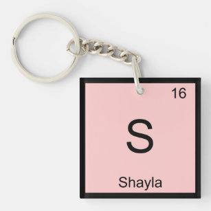 Periodic table name gifts on zazzle shayla name chemistry element periodic table keychain urtaz Image collections