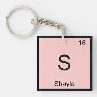 Shayla Name Chemistry Element Periodic Table Keychain