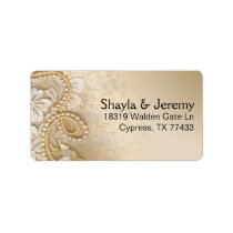 Shayla Pearls and Lace Mailing   eggshell Label