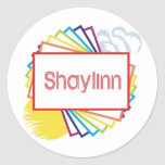 Shaylinn Pegatina Redonda