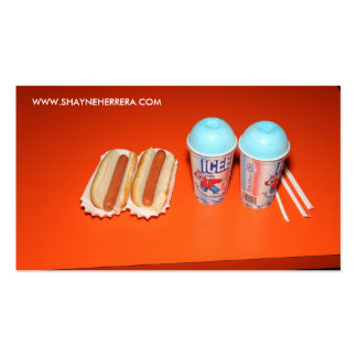SHAYNE HERRERA- HOT DOGS AND ICEES Double-Sided STANDARD BUSINESS CARDS (Pack OF 100)