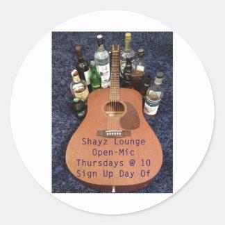 SHAYZ LOUNGE IRISH PUB CLASSIC ROUND STICKER