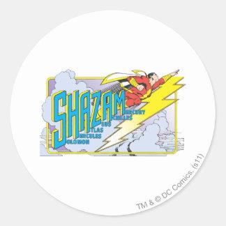 Shazam Acronym 2 Classic Round Sticker