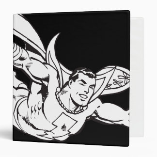 Shazam Flying Outline 3 Ring Binder