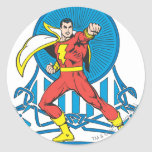 SHAZAM in Fight Stance Classic Round Sticker