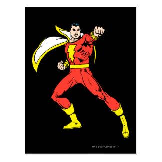 Shazam listo para luchar postales