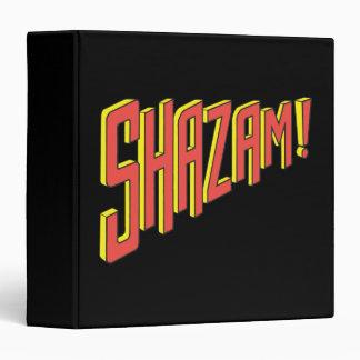 Shazam Logo Red/Yellow 3 Ring Binder