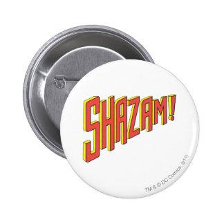 Shazam Logo Red/Yellow Pinback Button