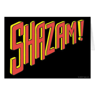 Shazam Logo Red/Yellow Greeting Card