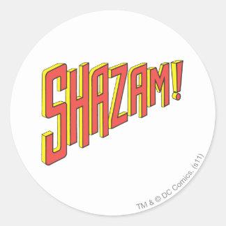 Shazam Logo Red/Yellow Round Stickers