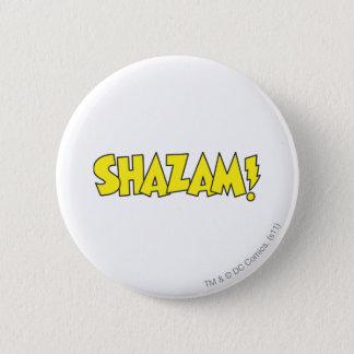 Shazam Logo Yellow Button