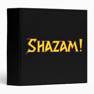 Shazam Logo Yellow/Red 3 Ring Binders