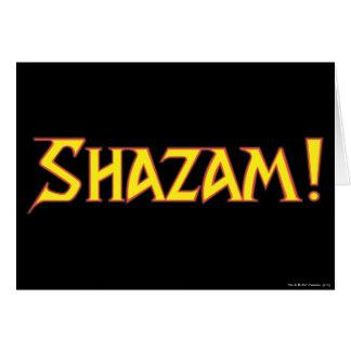 Shazam Logo Yellow/Red Greeting Card