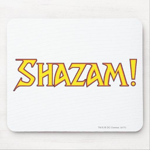Shazam Logo Yellow/Red Mouse Pad