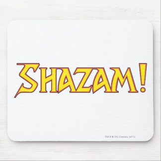 Shazam Logo Yellow/Red Mouse Pads