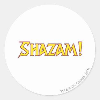 Shazam Logo Yellow/Red Round Sticker