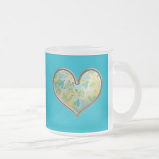 SHC SCRAPBOOKING HEARTS LOVE GRAPHICS CUSTOMIZABLE FROSTED GLASS COFFEE MUG