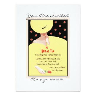 She © 6.5x8.75 paper invitation card