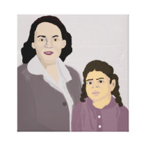She and Her Mother Canvas Print