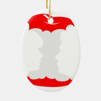 she and him ceramic ornament