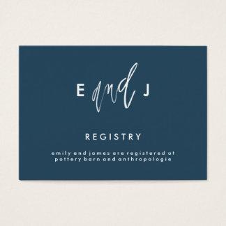 she and him wedding registry enclosure card