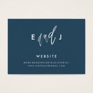 She and Him | Wedding Website Enclosure Card